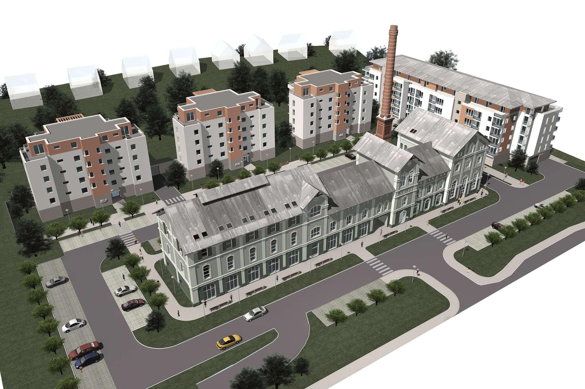 Vrchlabí - bytové domy Pivovar